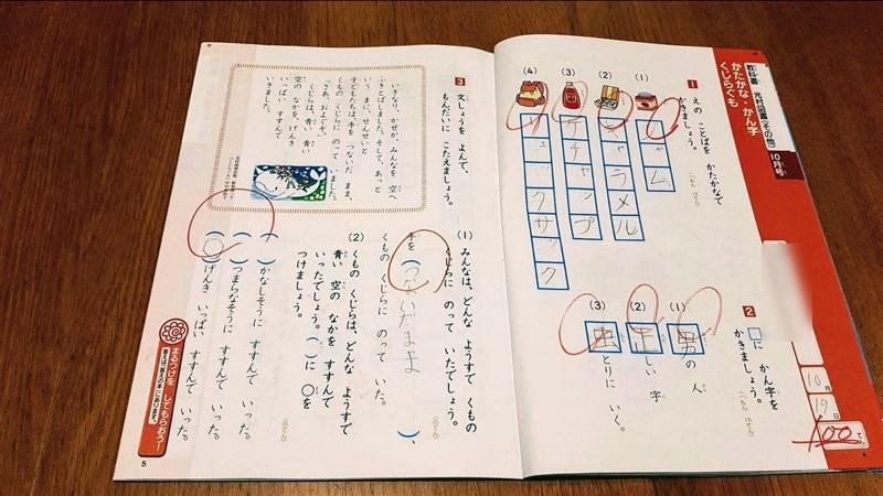 テスト100点問題集の国語の問題2ページ