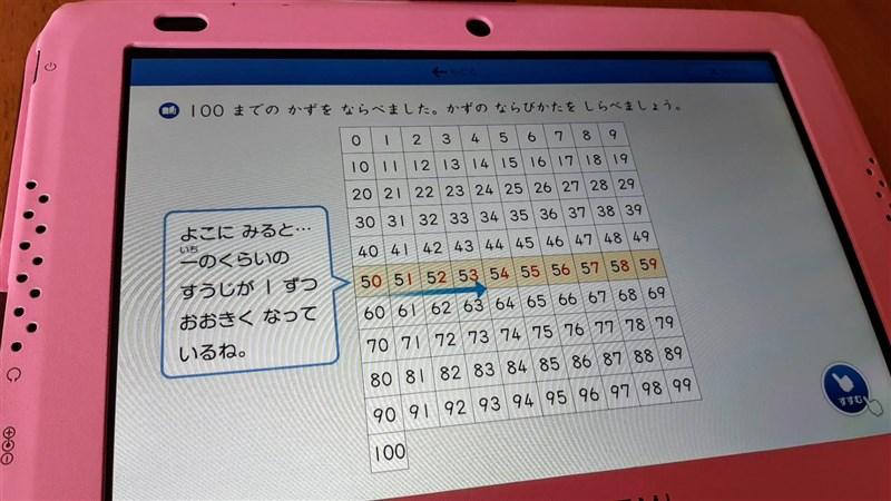 スマイルゼミ一年生の算数の解説画面