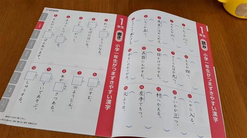 漢字攻略BOOKの読み書き問題のページ