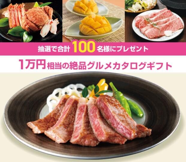 スマイルゼミキャンペーン内容「カタログギフト1万円相当」