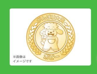 はなまるシールでもらえる記念品「メダル(小)」
