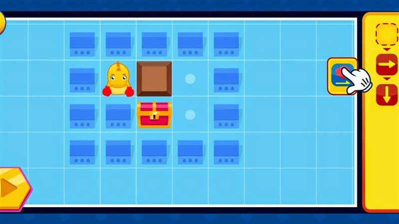 ワンダーボックスのコードアドベンチャープレイ画面