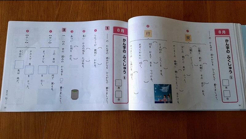 Z会の書きとりノートで出題される漢字の読み書き